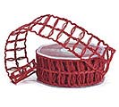 #9 CHRIMSON RED LATTICE JUTE RIBBON