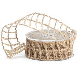 #9 NATURAL LATTICE JUTE RIBBON