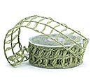 #9 MOSS GREEN LATTICE JUTE RIBBON