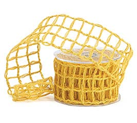 #40 MUSTARD YELLOW LATTICE JUTE RIBBON