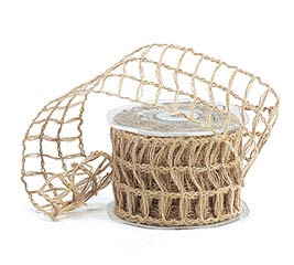 #40 NATURAL LATTICE JUTE RIBBON