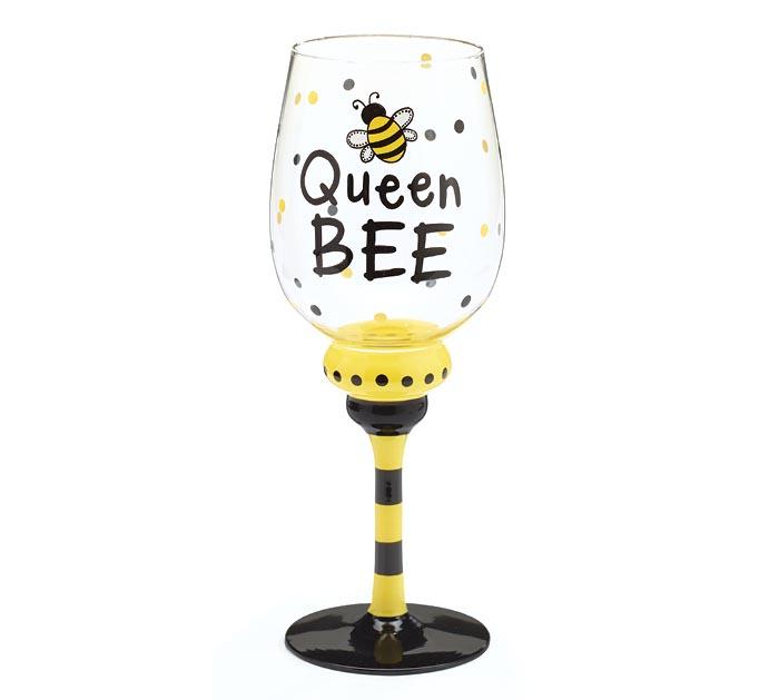 QUEEN BEE WINE GLASS