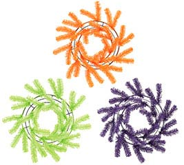 GREEN/ORANGE/PURPLE WORK WREATH
