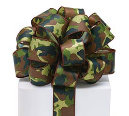 #9 CAMO SATIN WIRED RIBBON