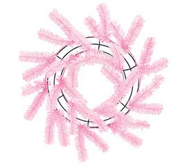 WORK WREATH PINK