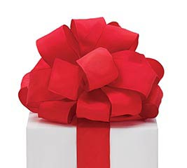 #9 RED TAFFETA WIRED RIBBON