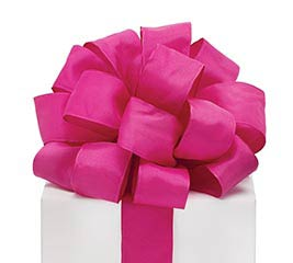 #9 MAGENTA TAFFETA WIRED RIBBON