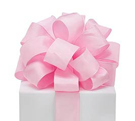 #9 PINK TAFFETA WIRED RIBBON