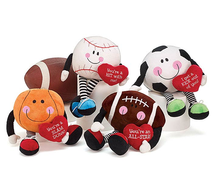 PLUSH VALENTINE SPORTS CHARACTER SET