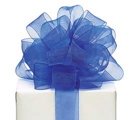 #9 ROYAL BLUE SHEER RIBBON