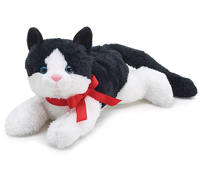 PLUSH BLACK AND WHITE CAT