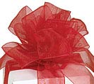 #9 SCARLET RED SHEER RIBBON