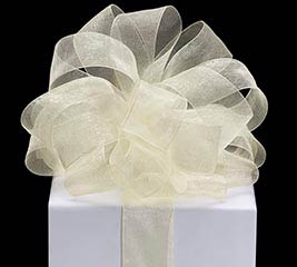 #9 IVORY SHEER RIBBON