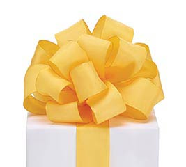 #9 YELLOW TAFFETA RIBBON