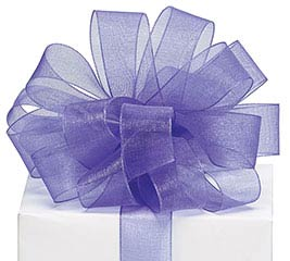 #5 PURPLE SHEER RIBBON