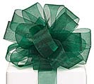 #5 DARK GREEN SHEER RIBBON