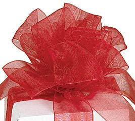 #5 SCARLET RED SHEER RIBBON