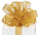 #5 GOLD SHEER RIBBON