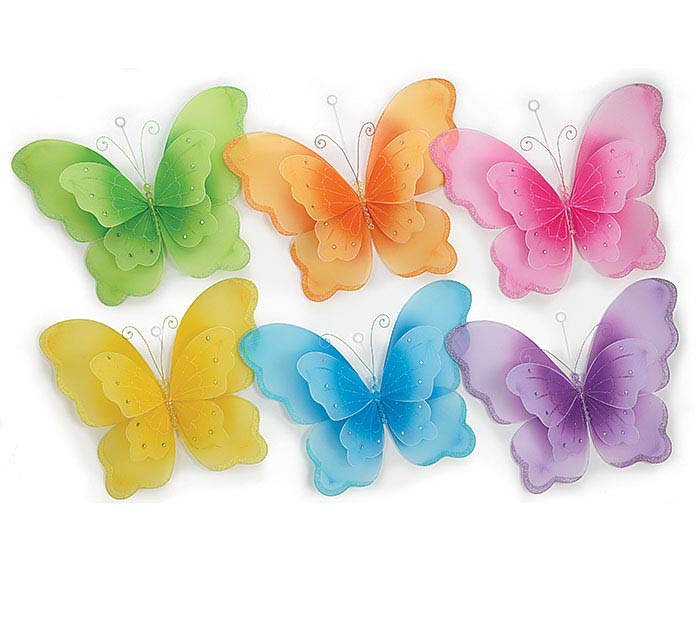 SPRING COLORS NYLON LARGE BUTTERFLY SET