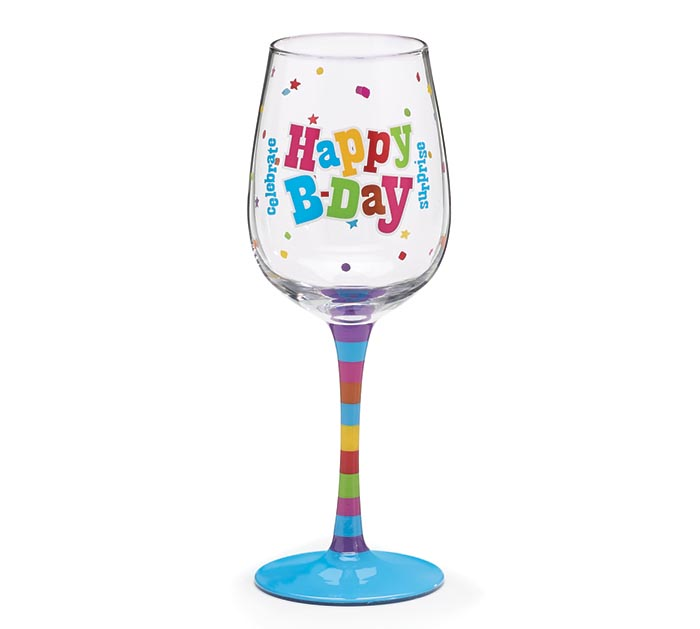 Product Details HAPPY BIRTHDAY WINE GLASS