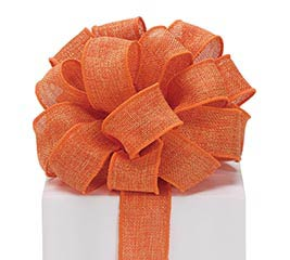 #9 ORANGE BURLAP WIRED RIBBON