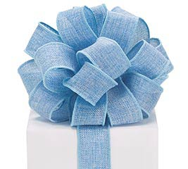 #9 BLUE BURLAP WIRED RIBBON