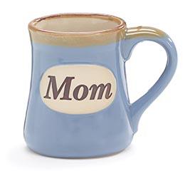 LIGHT BLUE MOM/MESSAGE PORCELAIN MUG