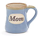 LIGHT BLUE MOM/MESSAGE PORCELAIN MUG