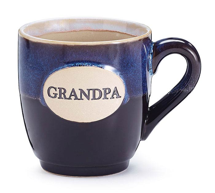 GRANDPA BLACK/GRAY GLAZE PORCELAIN MUG