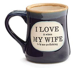 I LOVE FISHING PORCELAIN MUG