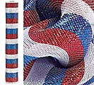 "21"" PATRIOTIC METALLIC MESH ROLL"