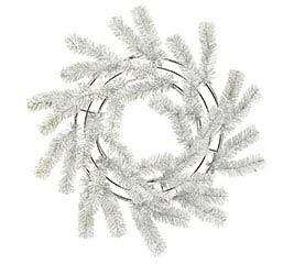 WHITE WORK WREATH
