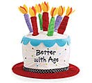 BETTER WITH AGE VELVET BIRTHDAY HAT
