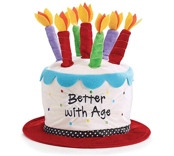 BETTER WITH AGE VELVET BIRTHDAY HAT