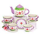 LAVENDER FLOWERS MINI CERAMIC TEA SET