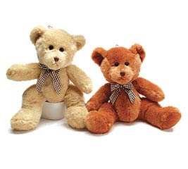 PLUSH BEIGE/RUST BEAR SET