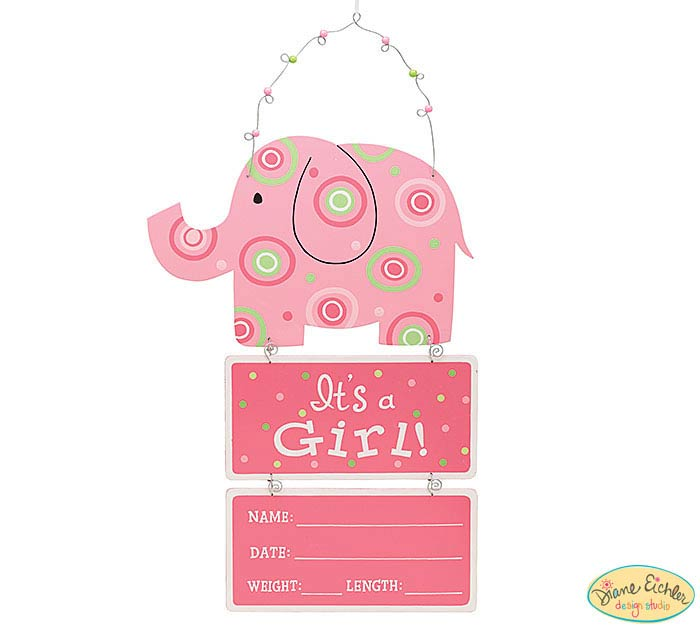 IT'S A GIRL BABY STATS ELEPHANT WALL HAN