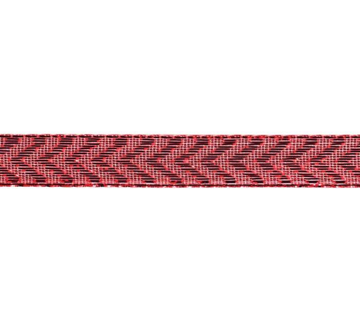 #2 METALLIC RED CHEVRON CORSAGE RIBBON