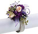 #3 SHEER PURPLE GLITTER CORSAGE RIBBON 1st Alternate Image
