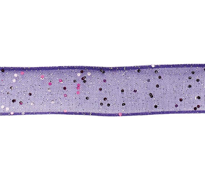 #3 SHEER PURPLE GLITTER CORSAGE RIBBON