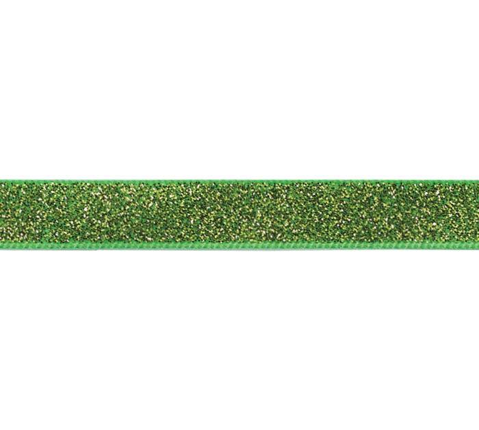 #2 GREEN SPARKLE SATIN CORSAGE RIBBON