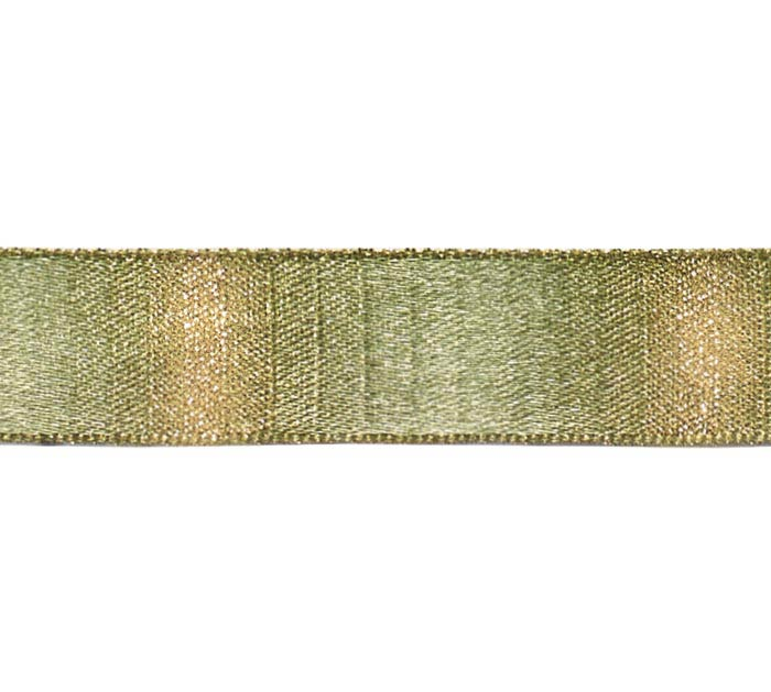 #3 OLIVE SATIN WITH GOLD RIBBON