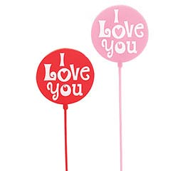 "12"" PLASTIC VALENTINE MESSAGE PICK SET"