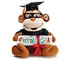 PLUSH GRADUATION MONKEY