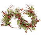 "60"" RED/GREEN GLITTER GARLAND"