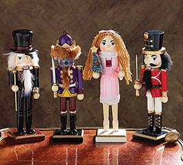 4 PIECE NUTCRACKER BALLET NUTCRACKER SET