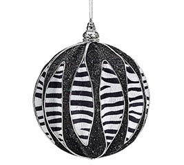 ORNAMENT ZEBRA ROUND