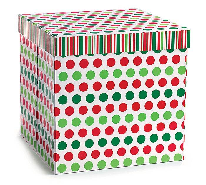 BOX RED/GRN DOTS