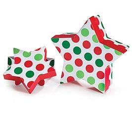 BOX STAR RED/GRN DOT