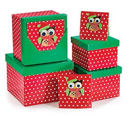 BOX CHRISTMAS OWL